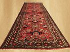 Authentic Hand Knotted Vintage Persian Hamadan Wool Area Runner 10 x 3 FT (7583)