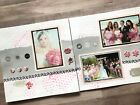 Pink Wedding Scrapbook pages 12 by 12 Ready for 4 by 6 photos 2 pages premade