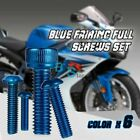 82PCS Blue Fairing Bolt Set Fasteners Nuts Screws KAWASAKI EX500 GPX500 500R