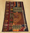 Amazing Hand Knotted Afghan Aksi Balouch Pictorial Wool Area Rug 5 x 3 FT (5417)