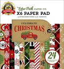 Echo Park Paper Company Cch159023 Celebrate Christmas 6X6 Pad Red Green Tan