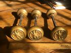 Antique Case Bronze Eagle Door Knob (Set of Three) With Spindles