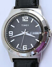 Men's Timex Indiglo Day Date Watch 38mm Silver 5 Year Battery 9
