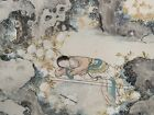 Early 20th Century Chinese Painting on Paper of a Recumbent Female