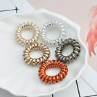 5PCS Girl Women Elastic Rubber Hair Ties Band Rope Ponytail Holder Spiral Access