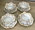 Vintage Austria Custard Dishes with Saucers Set of 4