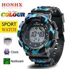 Men's Fashion LED Digital Alarm Date Army Watch Waterproof Sport Wrist Watches