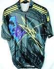 VINTAGE DESCENTE CYCLING JERSEY ABSTRACT GEOMETRIC PRINT 80S MENS SIZE L LARGE