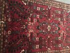 Antique Hand Knotted  Middle East Persian  Islamic  100% Wool Red Prayer Rug