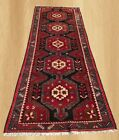 Authentic Hand Knotted Vintage Persian Hamadan Wool Area Runner 10 x 4 FT (7258)
