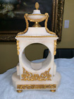 White Marble and Gilt Bronze Clock case