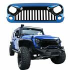 07 18 Jeep Wrangler JK Topfire Style ABS Front Hood Grill Grille Blue