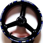 BLUE-WHITE GP STYLE CUSTOM RIM STRIPES WHEEL DECALS TAPE STICKERS YAMAHA YZF R6