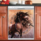 Country Decor Kitchen Dishwasher Magnet Beautiful Native Horse 2