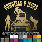Jeep Cowgirls and Jeeps 4x4 sexy girls Jeeps truck decal sticker