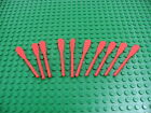 Lot 10 LEGO Red Oar Paddle for Row Boat Pirate Islander #2542