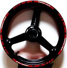 RED WHITE GP STYLE CUSTOM RIM STRIPES WHEEL DECALS TAPE STICKERS YAMAHA YZF R1