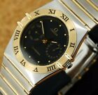 Authentic Omega Constellation Day Date Full-Bar 18K Solid Gold Quartz Mens Watch