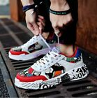 Lace Up Mens Floral Printed Fashion Sneaker Casual Sport Comfy Atheletic Shoes R