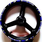 WHIT BLUE GP STYLE CUSTOM RIM STRIPES WHEEL DECALS TAPE STICKERS SUZUKI SV650S