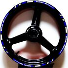 BLUE WHITE GP STYLE CUSTOM RIM STRIPES WHEEL DECALS TAPE STICKERS SUZUKI SV650S