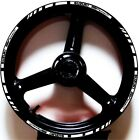 WHITE BLACK GP STYLE CUSTOM RIM STRIPES WHEEL DECALS TAPE STICKERS SUZUKI SV650S