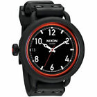 NIXON Men's OCTOBER Watch A488760 ALL BLACK / RED Brand New with Tags MSRP $350