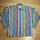 Vintage Versace Jeans Couture Button Down Shirt MED Cotton Loud Italy Ittierre