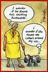 Dog Collar on Wrong Side Eric Decetis Funny Humorous Pictura Birthday Card