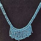 JEWELRY BEADED NATIVE AMERICAN NECKLACE WITH FRINGE