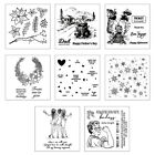 Flowers DIY Silicone Clear Stamp Cling Seal Scrapbook Embossing Album Decor