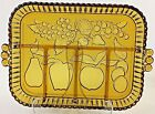 Indiana Glass Amber Depression Divided Fruit Embossed Relish Serving Tray Dish