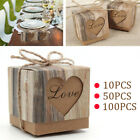 Luxury Rustic Wedding Party Favor Love Heart Candy Box Sweet Cake Gift Boxes