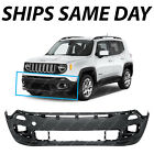 NEW Textured Front Lower Bumper Cover for 2015 2018 Jeep Renegade w o Park 15 18
