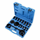 23pcs Fwd Front Wheel Bearing Press Kit Removal Adapter Puller Pulley Tool Case