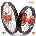 21/18 ENDURO WHEEL FIT KTM EXC EXC-W 125-530CC ORANGE NIPPLE DISCS AND SPROCKET