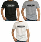 Caballero Fantic Motor Motorcycle Legend Black T-Shirts Grey Men's Tee S-3XL
