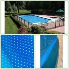 Rectangle In Ground Solar Pool Blanket Heavy Gauge Dome Technology UV Resistant