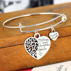 Mother Daughter Heart Bracelet Adjustable Family Mothers Day Hearts Pendant