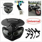 Universal Motorcycle Motocross Headlight Fairing Light Street Fighter Plastic AC