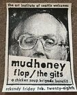 Mudhoney The Gits Flop Concert Poster RKNDY Art Chantry Signed 1992