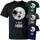 A Trip to the Moon GMelies movie poster 1902 T Shirt BLACK All sizes S 5XL
