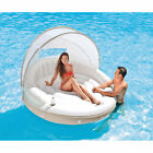 Intex Inflatable Canopy Island Water Pool Mattress Raft Float Lounge Kids Adults