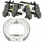 for Kawasaki KLF300 Bayou 300 4X4 1989-2004 Front Brake Pads / Rear Brake Shoes