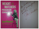 AUTOGRAPHED Vintage Weight Watchers Program Cookbook by Jean Nidetch Hardcover