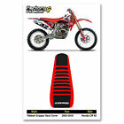 2003-2010 HONDA CR 85 SEAT COVER RIBBED Red/Black/Red Ribs by Enjoy MFG