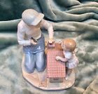LLADRO FATHER AND BABY GIRL, A NEW DOLL HOUSE #5139, RETIRED, RARE, MINT!