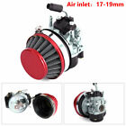Carburetor Carb Red Air Filter For 49cc 80cc Motorized Bicycle Engine Motor Kit