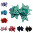 120PCS 10CM Grosgrain Ribbon Swallow tailed Hair Bows Butterfly Shaped No Clips