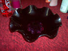 BLACK GLASS DISH FROM THE 60